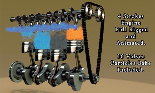 4 Stroke Engine Animation Free Download - 0425